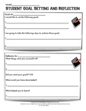 Student Goal Setting and Reflection