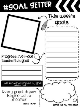 Student Goal Setting and Reflection Pages