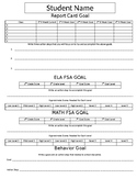 FSA and More Student Goal Sheet