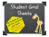 Student Goal Sheets