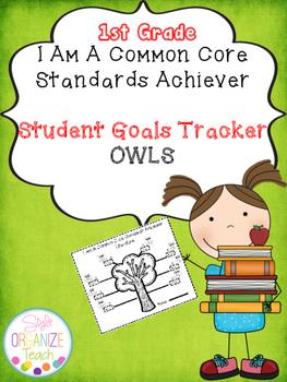 Student Goal Tracker  Common Core Standards Owl Theme 1st Grade