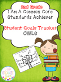Student Goal Tracker  Common Core Standards Owl Theme 2nd Grade