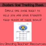 Student Goal Tracking Sheet