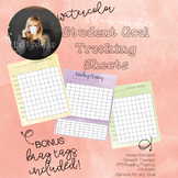 Student Progress Monitoring/Tracking Sheets: For All Goals!