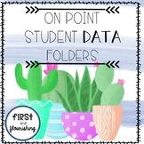 Student Goal and Data Tracking Folder (Cactus)