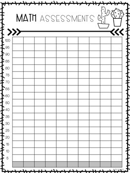 Student Goal and Data Tracking Folder (Cactus)
