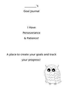 Student Goal and Data Tracking Journal