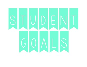 Student Goals Banner (light blue)