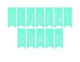 Student Goals Banner (light blue)