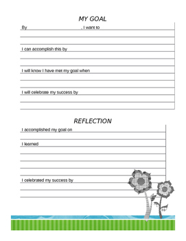 Student Goals, Data, and Reflection
