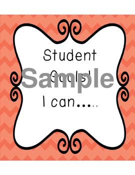 Student Goals! I can.....