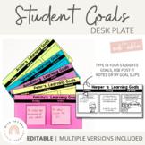 Student Goals Mat | Editable