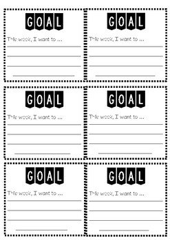 Student Goals Template General PDF