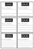 Student Goals Template (General) PDF