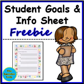 Student Goals and Info Sheet