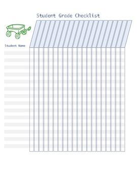 Student Grade Checklist