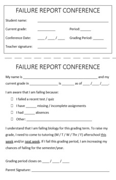 Student Grade Conference Form