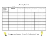 Student Grade Recording Sheet