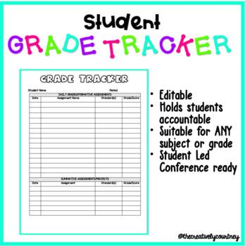 student grade tracker by creatively courtney teachers pay teachers