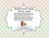 Student Grade Tracker with Bar Graph