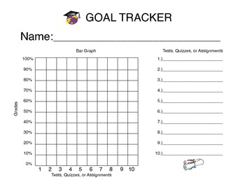 student grade tracker with bar graph by alisha janes tpt