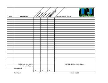 student grade tracking sheet by teacher junk teachers pay teachers