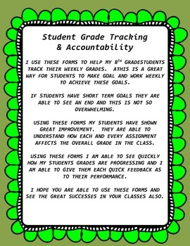 Student Grade tracking & Accountability