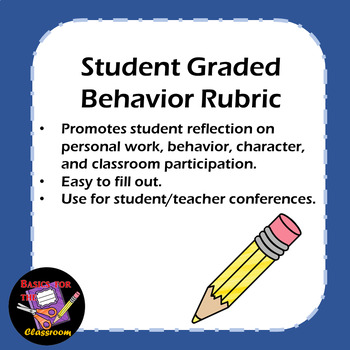 Student Graded Behavior Rubric