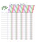 Student Grading Sheet Checklist