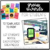 Student Group Awards-74 Templates of Behaviors You Want Recognized