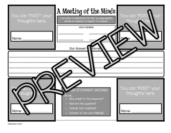 Student Group Collaboration Sheet