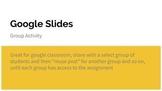 Group Goal-Setting Activity | Digital - Google Slides | Cl