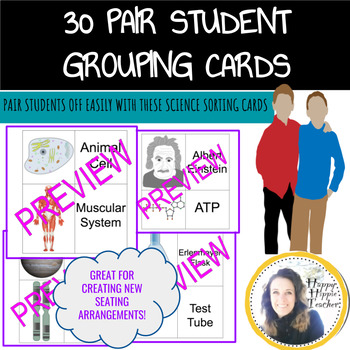 Student Group Sorting Cards