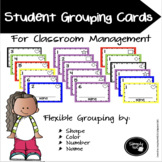 Student Grouping Cards