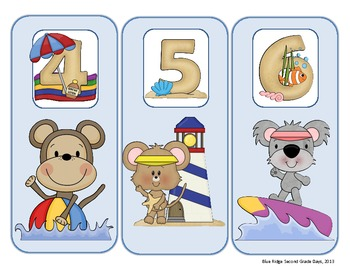 Student Grouping Cards With Beach Theme