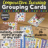 Flexible Student Grouping Cards for Cooperative Learning C