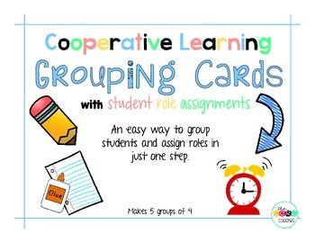 Free - Student Grouping Cards with Role Assignments