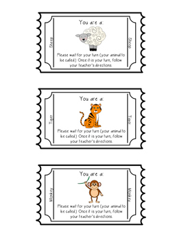 Student Grouping Tickets (FREEBIE -Animal Themed - 30 DIFFERENT animals)