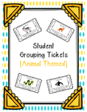 Student Grouping Tickets (Animal Themed - 30 DIFFERENT animals)