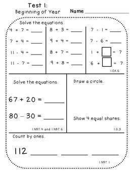 Student Growth Assessments (First Grade)