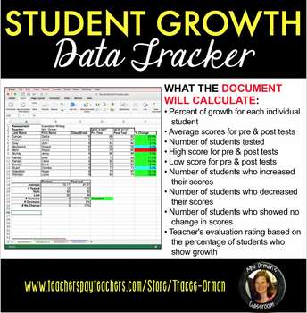 Student Growth Data Tracker - Microsoft Excel