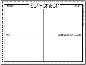 Student Growth Journal {Family Newsletters}