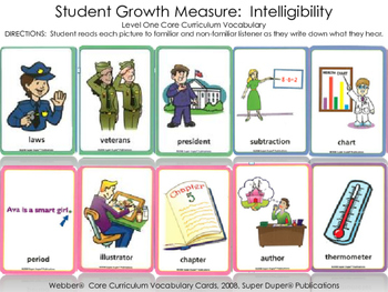 Student Growth Measure: Intelligibility