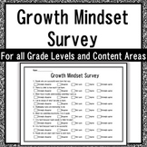 Student Growth Mindset Survey