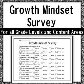 Student Growth Mindset Survey
