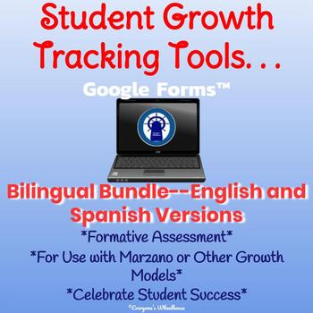 Student Growth Tracking Tool for use with Google Forms Bilingual Bundle