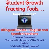 Student Growth Tracking Tool for use with Google Forms™ Bilingual Bundle