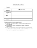 Student Growth at A Glance Sheets (Editable)