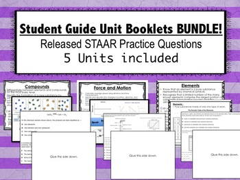Student Guide Booklets BUNDLE! (5 Units with Visuals, TEKS, and STAAR questions)