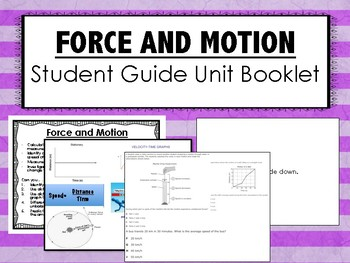 Force and Motion Science Unit Overview Booklet